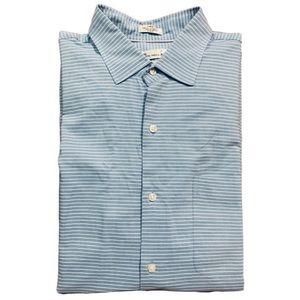Peter Millar Seaside Collection Shirt Silk Blue L
